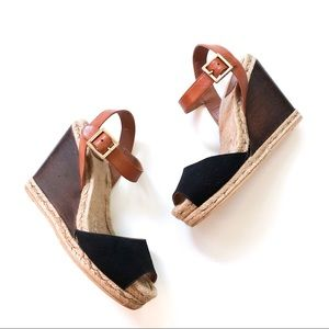 Tory Burch Wood Wedge Espadrilles